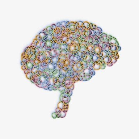 Photo pour Cerveau, synapses, illustration abstraite - image libre de droit