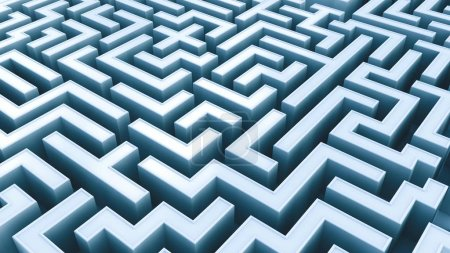 Photo for Conceptual view of Labyrinth, 3D illustration - Royalty Free Image