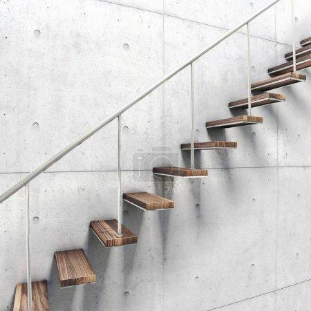 Photo pour Escaliers avec une balustrade vue de près - image libre de droit