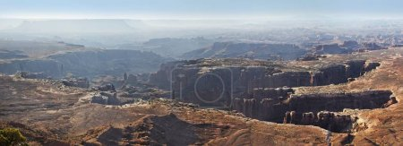Rugged canyons of White Rim and The Maze, Island in the Sky plateau, Canyonlands National Park, near Moab, Utah, United States, North America