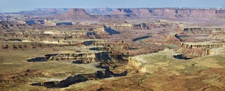 Rugged canyons of Green River, Island in the Sky plateau, Canyonlands National Park, near Moab, Utah, United States, North America