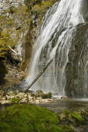 Photo for Waterfall in the Wasserlochklamm Gorge, Palfau, Gesuse National Park, Styria, Austria, Europe - Royalty Free Image