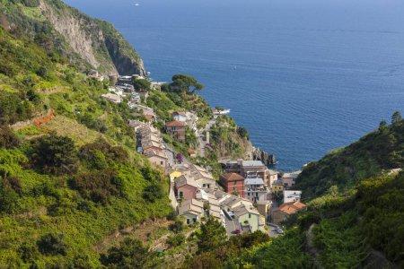 Photo for Village of Riomaggiore, Cinque Terre, UNESCO World Heritage Site, Riviera di Riomaggiore, Riomaggiore province, Liguria, Italy, Europe - Royalty Free Image