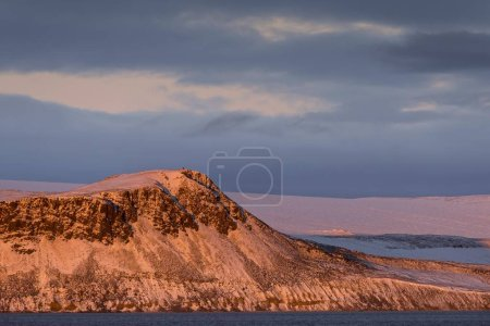 scenic view of Mountain and glacier in the evening light, Hinlopenstretet, Svalbard Archipelago, Svalbard and Jan Mayen, Norway, Europe