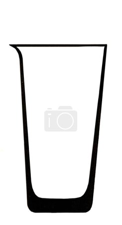 Photo for Mixing glass, simple black and white draw - Royalty Free Image