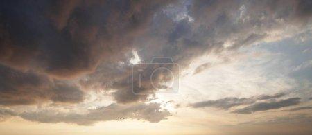 Cloudy sky, Mecklenburg-Western Pomerania, Germany...