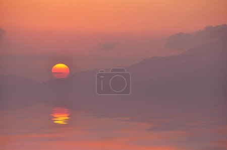 Scenic view of Sunset, Tigaki, Kos, Greece, Europe...