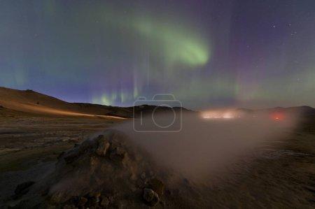 malerischer Blick auf majestätische Nordlichter