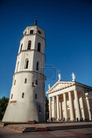 St. Stanislaus Cathedral on Cathedral Square in the historic part of the old city of Vilnius. Lithuania