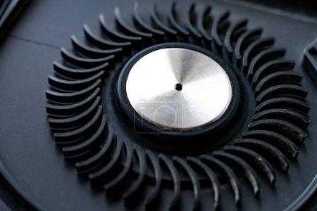 Photo pour Noir ventilateur électronique, matériel informatique macro shot, système de ventilation - image libre de droit