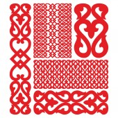 Russian pattern isolated on white Vector illustration of carved decor
