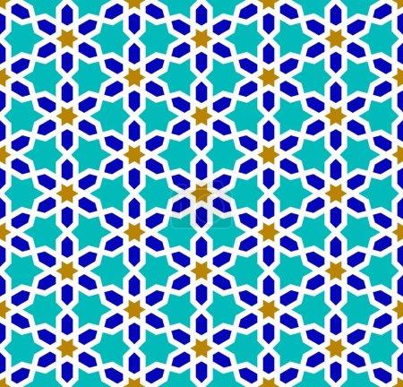 Arab mosaic. Islamic seamless pattern.