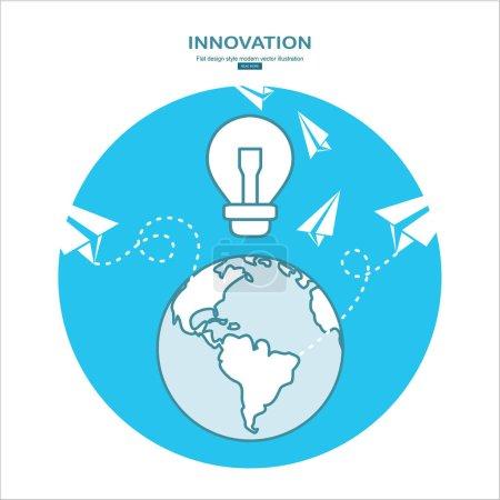 Illustration pour Bannière d'innovation, illustration vectorielle simple - image libre de droit