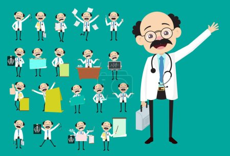 Vector Collection of Many Concepts of Medical Doctor