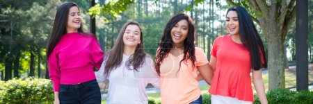 Photo for Group of teen girls of all races who are friends - Royalty Free Image