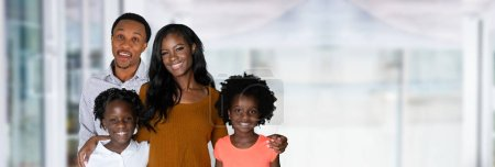Photo for African American family with two daughters - Royalty Free Image