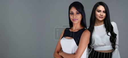 Photo for Indian female friends posing for a portrait - Royalty Free Image