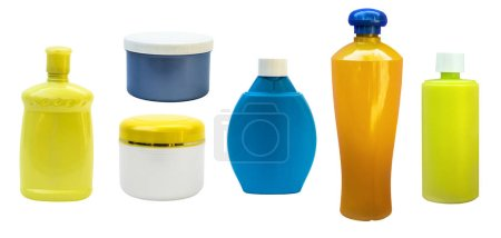 Plastic bottles isolated. Empty