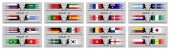 Soccer cup 2018 group stages of international world championship All the objects are in different layers and the text types do not need any font