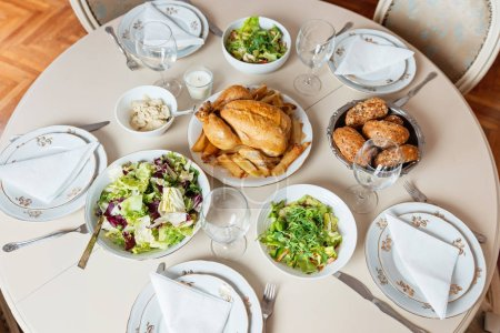 Photo for Table set for holiday lunch - Royalty Free Image