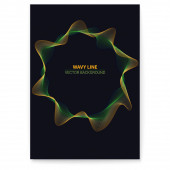 Modern poster with radial vignettes Dynamic flow on dark background with place for text Abstract circular pattern moving flow Optical art vector design elements