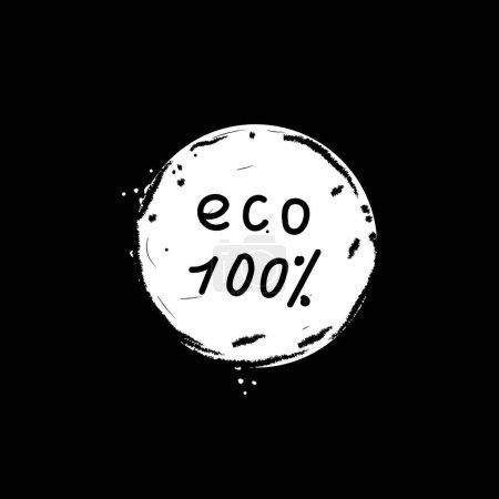 Eco 100 percent vector icon
