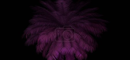 3d render of neon palm