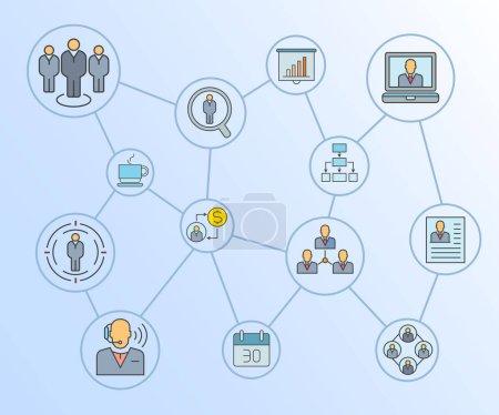 Illustration pour Icônes Web réglées. Illustration vectorielle - image libre de droit