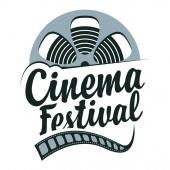 Vector cinema festival poster with film strip reel