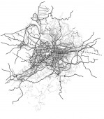 Taipei Taiwan streets roads avenues transportation vector map