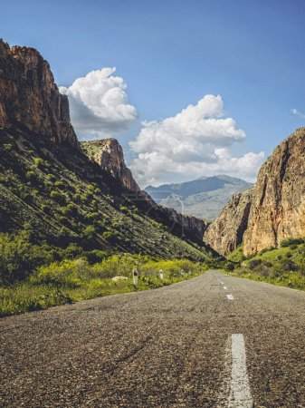 Photo for Scenic shot of empty mountain road, Armenia - Royalty Free Image