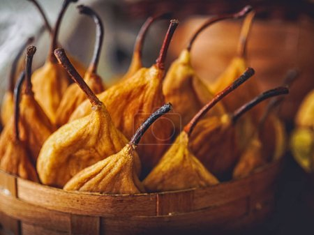 Photo for Close-up shot of delicious dried pears in basket - Royalty Free Image