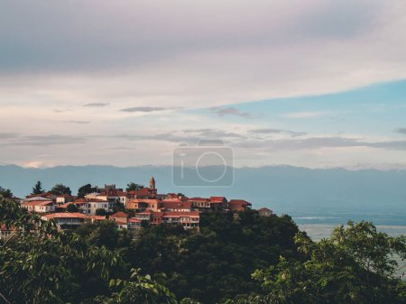 Photo pour Belle ville sur la colline en Géorgie - image libre de droit