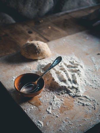 ingredients for preparing traditional georgian flatbreads