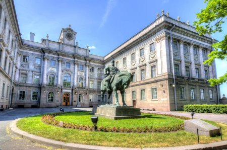 Monument to Alexander III in front of the Marble Palace, St. Petersburg, Russia