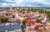 Tallinn cityscape from St. Olav's church top, Estonia