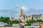 Fisherman Bastion and Matthias Church in Budapest, Hungary