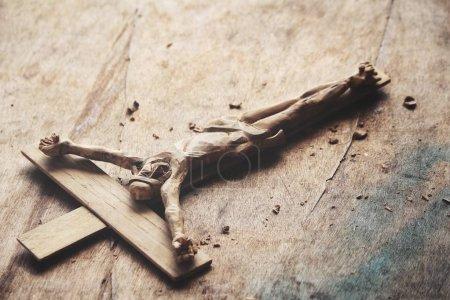 Close up of wood cross