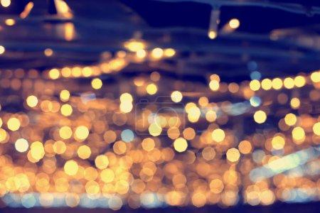 Photo pour Belles lumières de Noël fond festif - image libre de droit