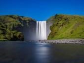 Skogafoss waterfall ultra long exposure