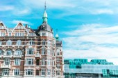 """Постер, картина, фотообои """"Городские сцены с красивой архитектурой, Копенгагена и пасмурное небо, Дания"""""""