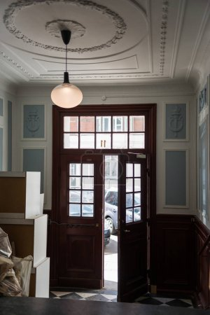 scenic view of opened wooden door in room, copenhagen, denmark