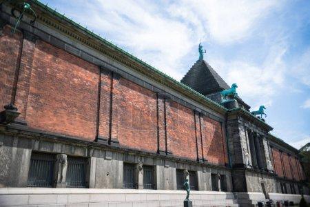 COPENHAGEN, DENMARK - MAY 5, 2018: urban scene with beautiful Ny Carlsberg Glyptotek in copenhagen, denmark