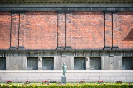 COPENHAGEN, DENMARK - MAY 5, 2018: urban scene with Ny Carlsberg Glyptotek art museum copenhagen, denmark