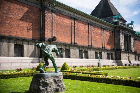 COPENHAGEN, DENMARK - MAY 5, 2018: urban scene with Ny Carlsberg Glyptotek in copenhagen, denmark