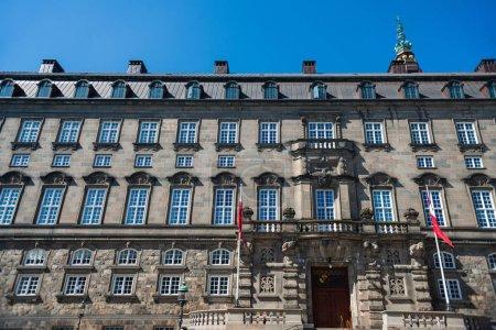 Photo for Urban scene with historical Christiansborg Palace in copenhagen, denmark - Royalty Free Image