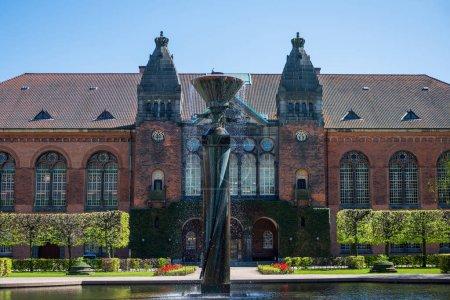 urban scene with famous Jewish museum in copenhagen, denmark