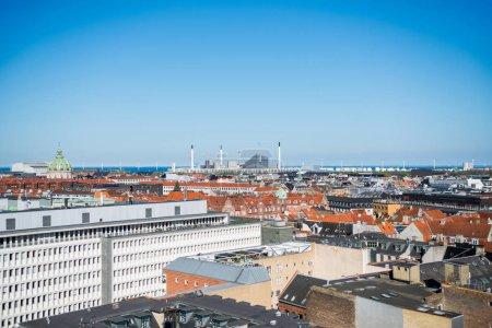 cityscape of beautiful architecture of copenhagen city, denmark