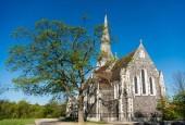 beautiful famous St. Albans Church against blue sky in copenhagen, denmark