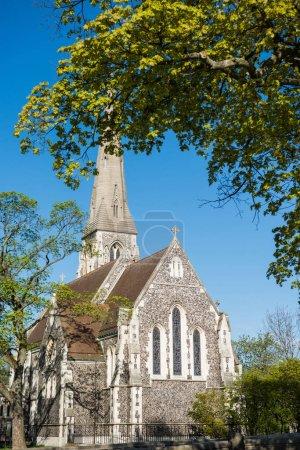 Photo pour Belle architecture de la célèbre église de St. Albans à Copenhague, Danemark - image libre de droit
